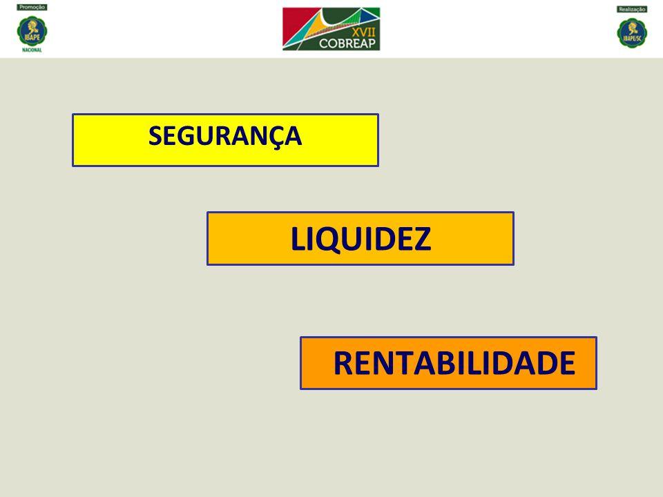 SEGURANÇA LIQUIDEZ RENTABILIDADE