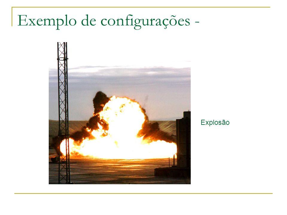 Exemplo de configurações - Explosão