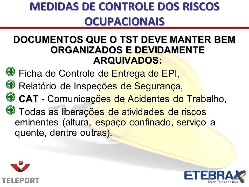 ESTATÍSTICA DE ACIDENTES Serão considerados os acidentes ocorridos dentro da empresa (típicos).