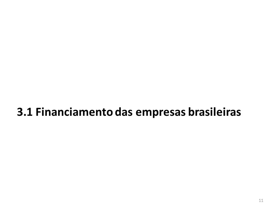 3.1 Financiamento das empresas brasileiras 11