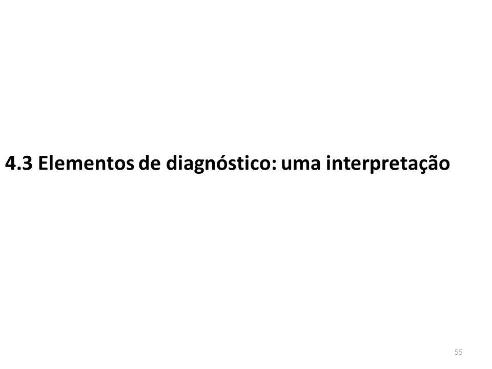 4.3 Elementos de diagnóstico: uma interpretação 55