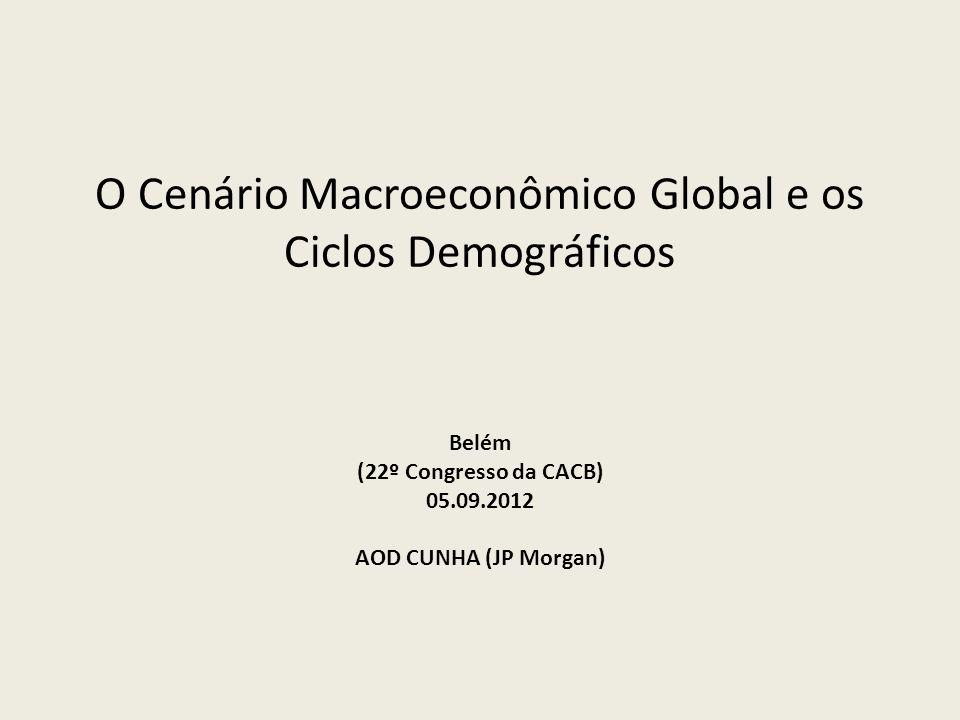 Aod Cunha de Moraes Jr -Os países emergentes e os BRICs, no seu conjunto, devem apresentar melhor desempenho do que os países ricos, mas serão afetados no curto prazo quando a percepção de lenta recuperação mundial se consolidar; -No conjunto dos BRICS, o movimento da demografia interna deve ter um importante papel.