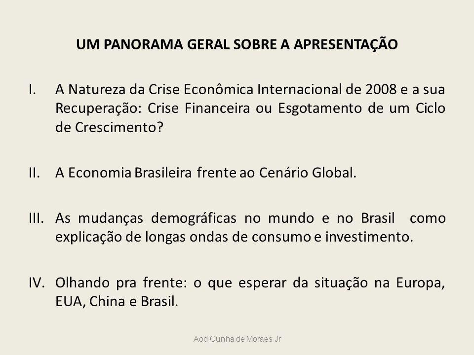 UM PANORAMA GERAL SOBRE A APRESENTAÇÃO I.A Natureza da Crise Econômica Internacional de 2008 e a sua Recuperação: Crise Financeira ou Esgotamento de u