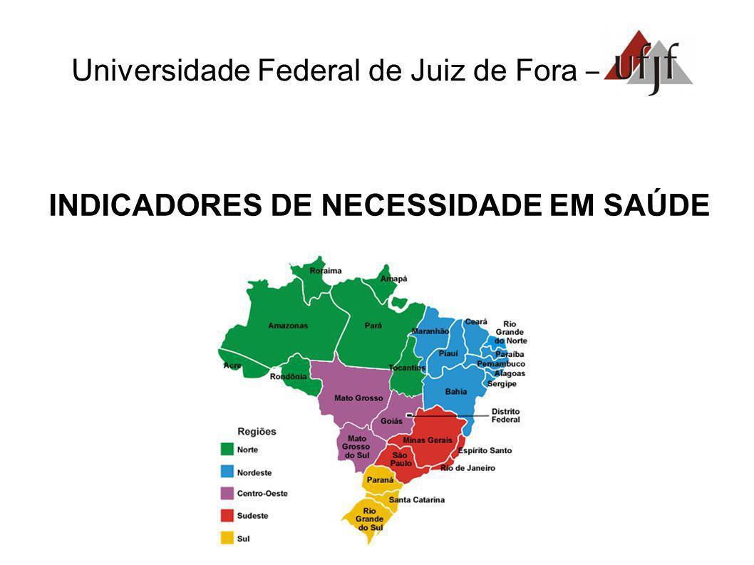Universidade Federal de Juiz de Fora – INDICADORES DE NECESSIDADE EM SAÚDE