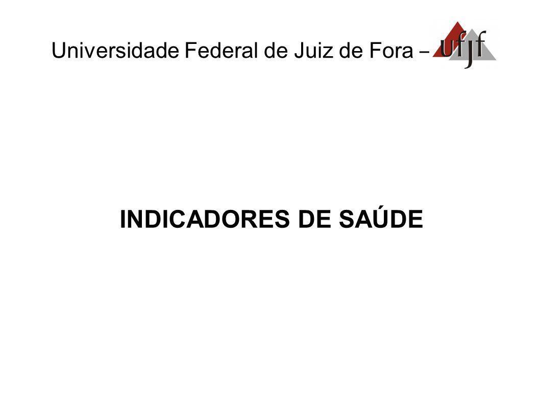 Universidade Federal de Juiz de Fora – INDICADORES DE SAÚDE