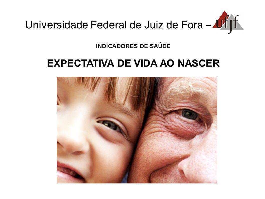 Universidade Federal de Juiz de Fora – INDICADORES DE SAÚDE EXPECTATIVA DE VIDA AO NASCER
