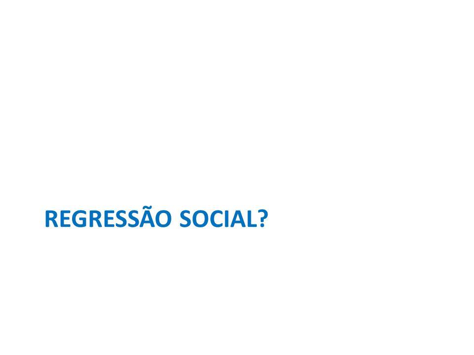 REGRESSÃO SOCIAL?