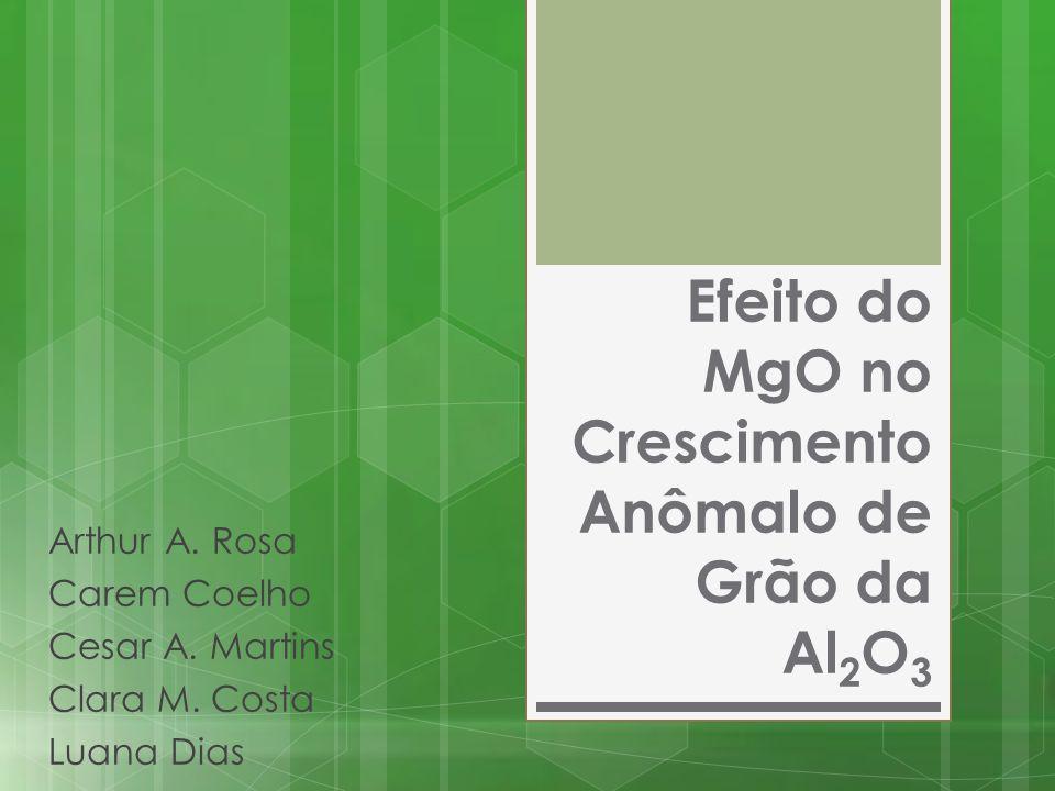 Efeito do MgO no Crescimento Anômalo de Grão da Al 2 O 3 Arthur A. Rosa Carem Coelho Cesar A. Martins Clara M. Costa Luana Dias