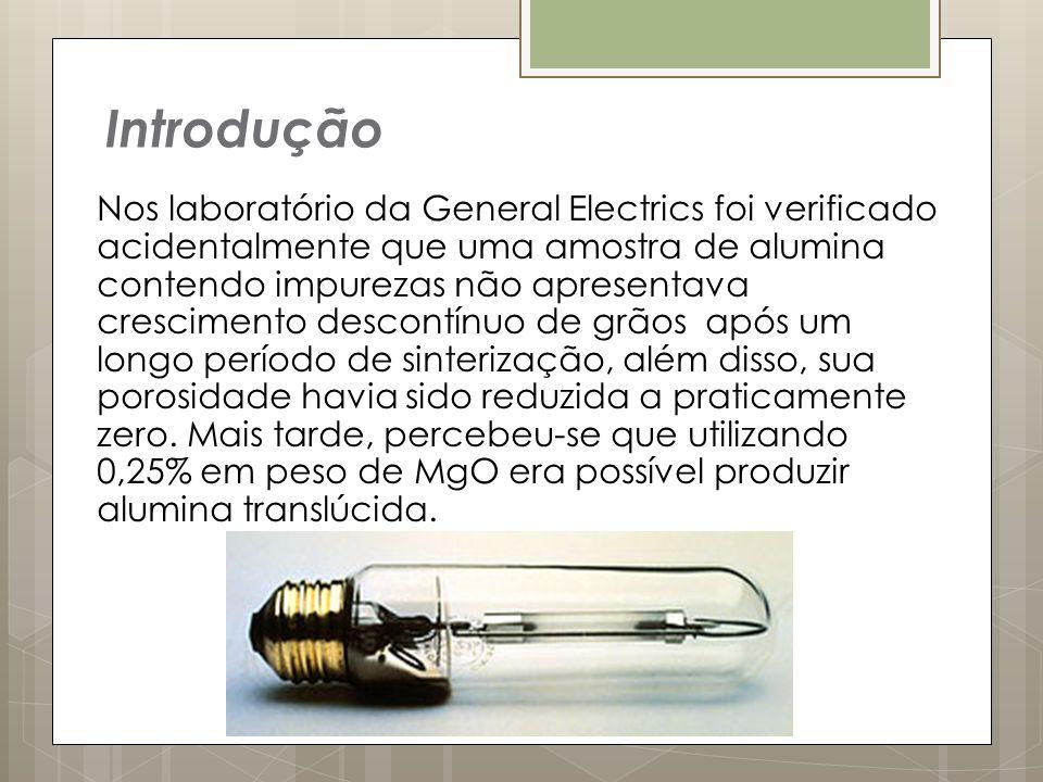 Nos laboratório da General Electrics foi verificado acidentalmente que uma amostra de alumina contendo impurezas não apresentava crescimento descontín