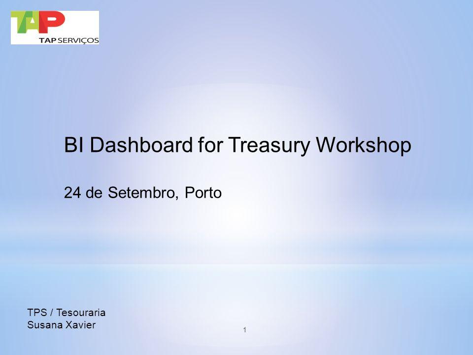 BI Dashboard for Treasury Workshop 24 de Setembro, Porto TPS / Tesouraria Susana Xavier 1