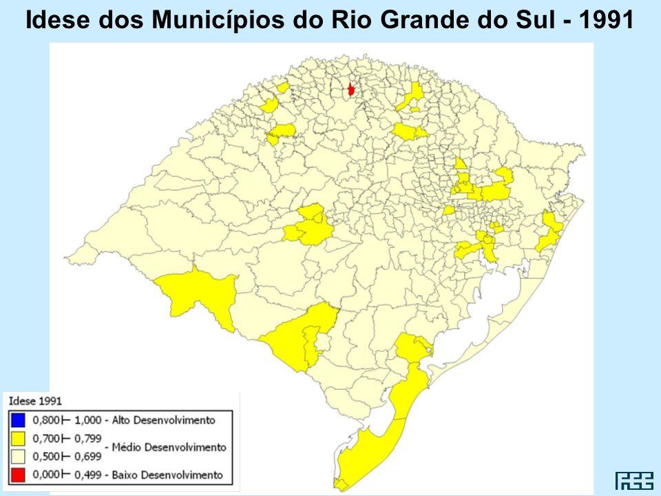 Idese dos Municípios do Rio Grande do Sul - 1991