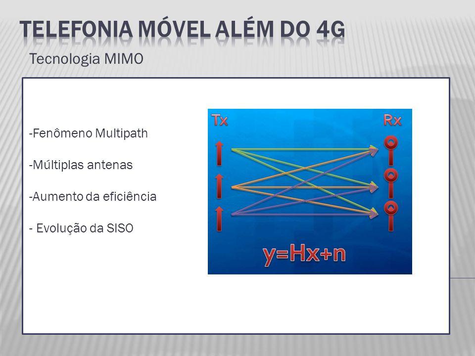 Tecnologia MIMO -Fenômeno Multipath -Múltiplas antenas -Aumento da eficiência - Evolução da SISO