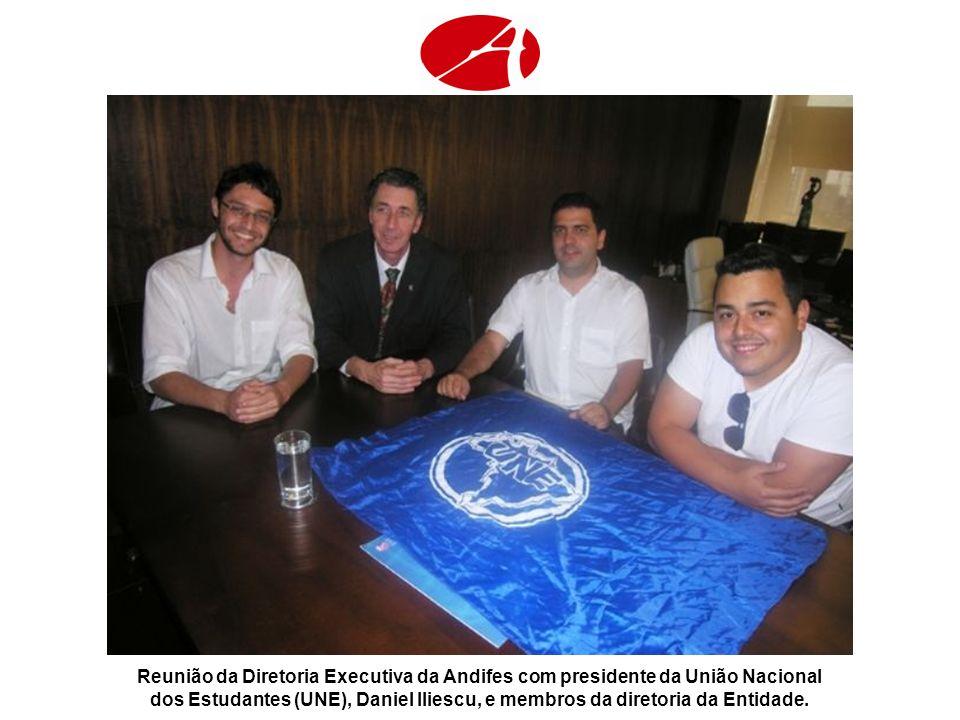 Reunião da Diretoria Executiva da Andifes com presidente da União Nacional dos Estudantes (UNE), Daniel Iliescu, e membros da diretoria da Entidade.