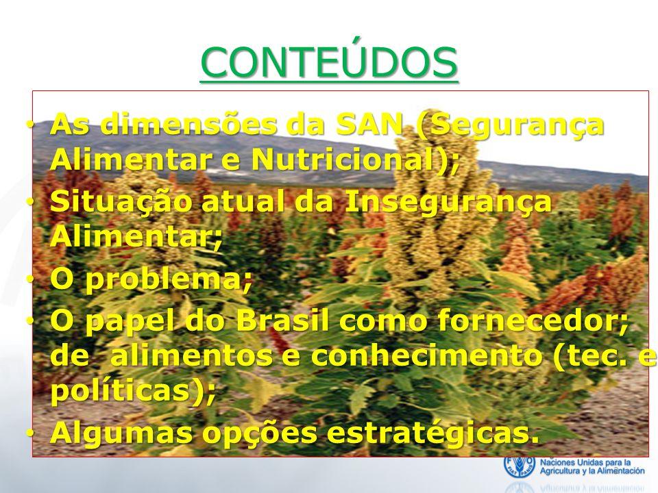 2 As dimensões da SAN (Segurança Alimentar e Nutricional); As dimensões da SAN (Segurança Alimentar e Nutricional); Situação atual da Insegurança Alim