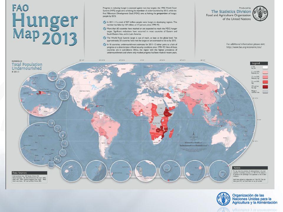 6 Prevalência de subnutrição e progresso no sentido das metas da Cúpula Mundial da Alimentação e dos Objetivos de Desenvolvimento do Milênio (ODM)