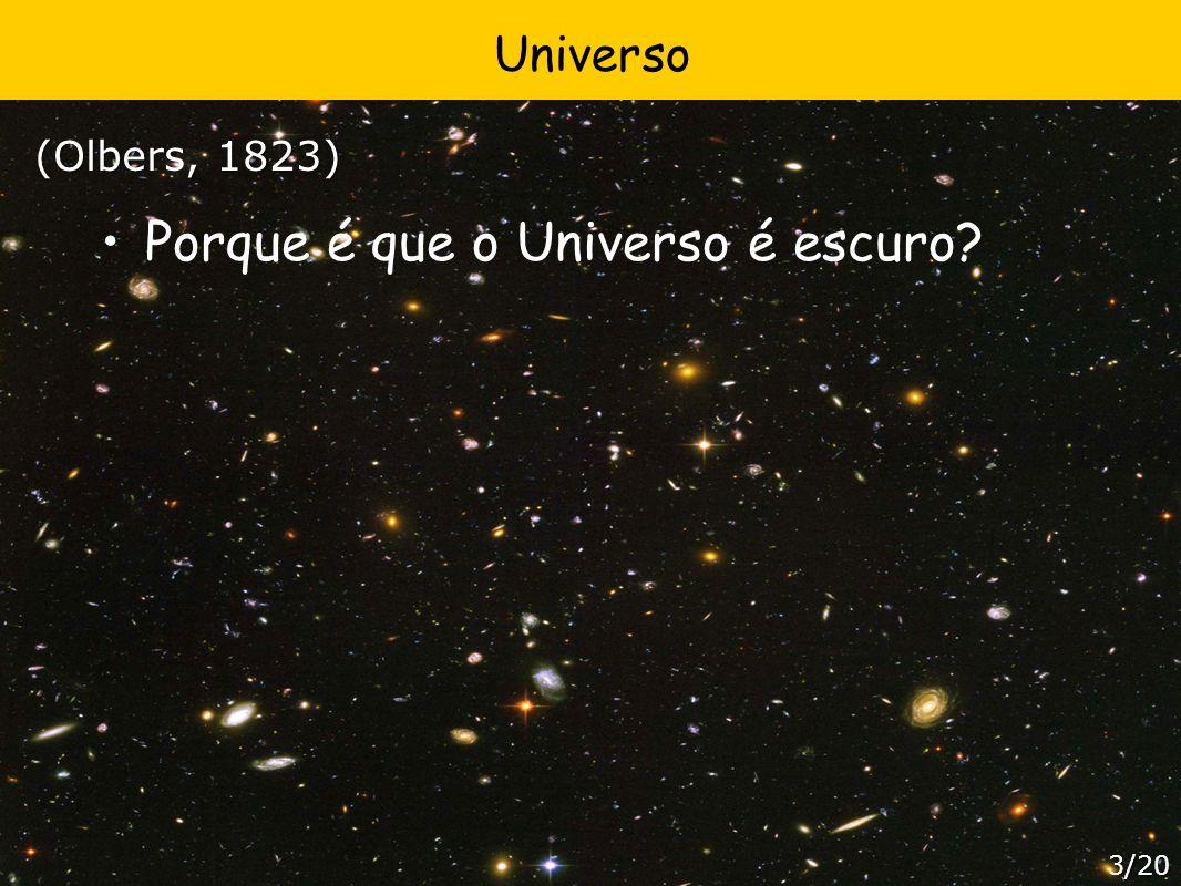 Universo Porque é que o Universo é escuro? (Olbers, 1823) 3/20