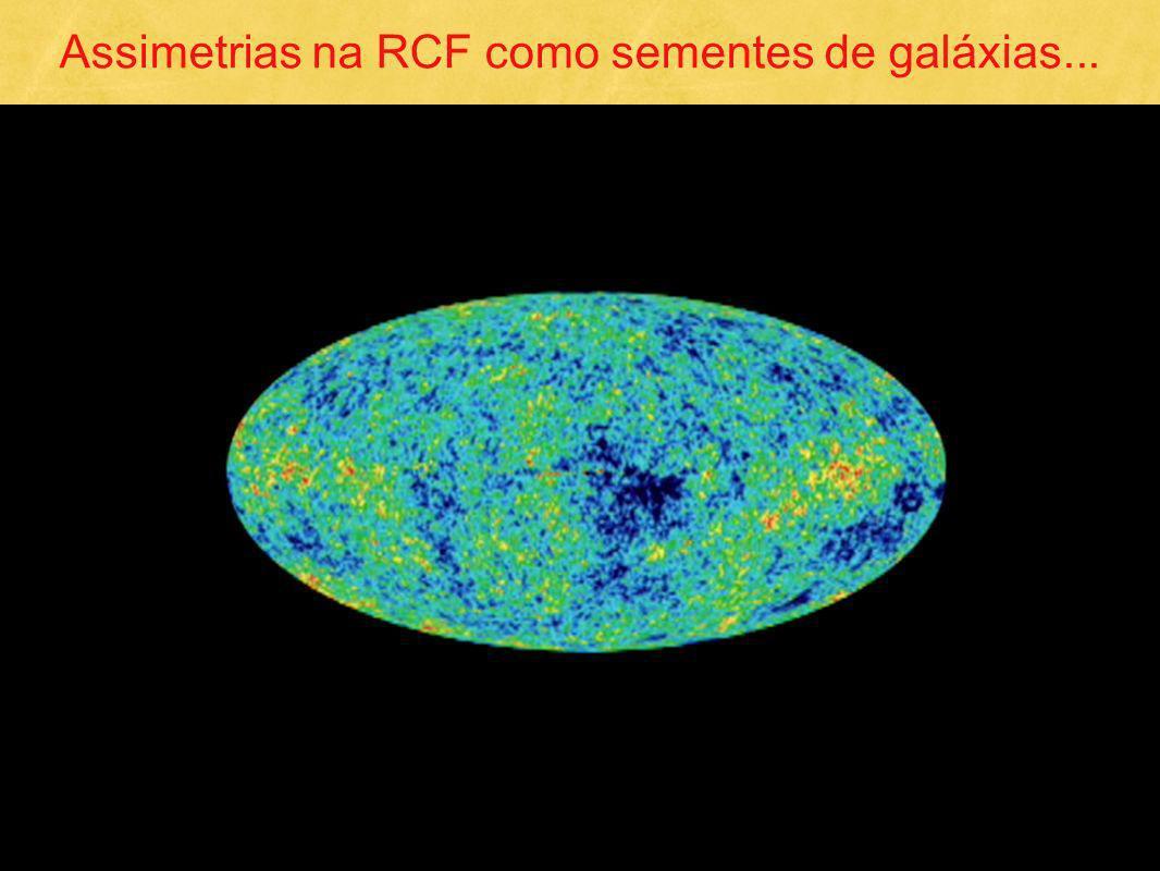 Assimetrias na RCF como sementes de galáxias...