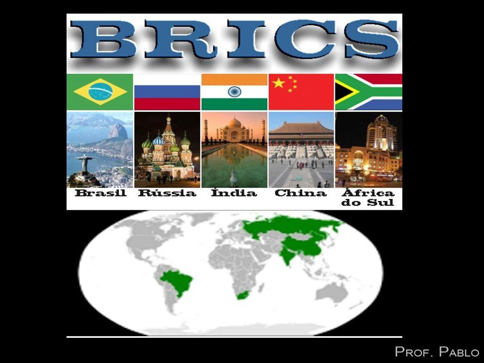 BRICS É um grupo internacional formado entre as principais nações em desenvolvimento do planeta formado por Brasil, Rússia, Índia, China e África do Sul.