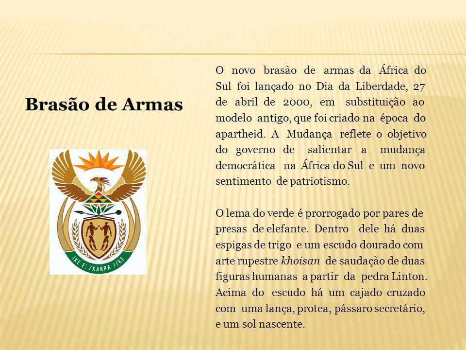 O novo brasão de armas da África do Sul foi lançado no Dia da Liberdade, 27 de abril de 2000, em substituição ao modelo antigo, que foi criado na époc