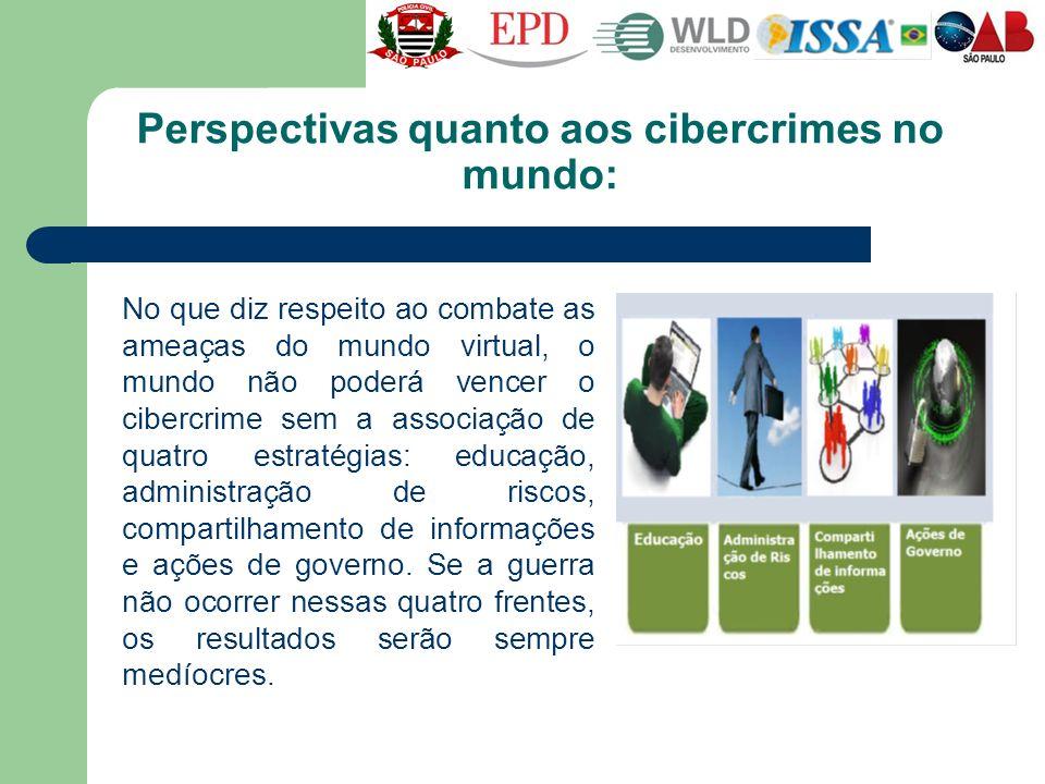 Perspectivas quanto aos cibercrimes no mundo: No que diz respeito ao combate as ameaças do mundo virtual, o mundo não poderá vencer o cibercrime sem a