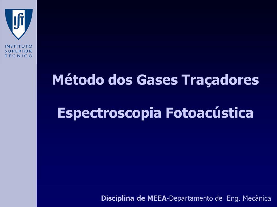 Método dos Gases Traçadores Espectroscopia Fotoacústica Disciplina de MEEA-Departamento de Eng.