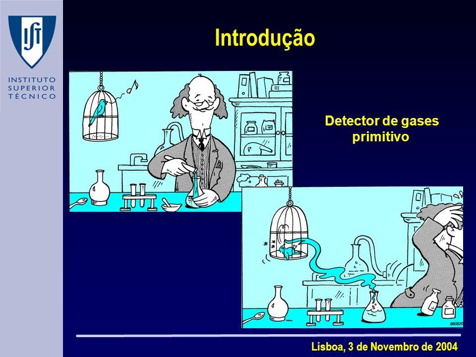 Lisboa, 3 de Novembro de 2004 Introdução Detector de gases primitivo