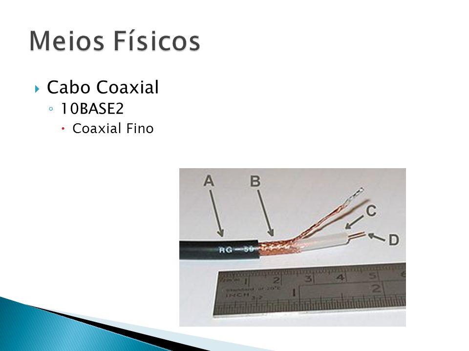 Cabo Coaxial 10BASE2 Coaxial Fino