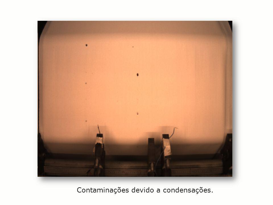 Contaminações devido a condensações.