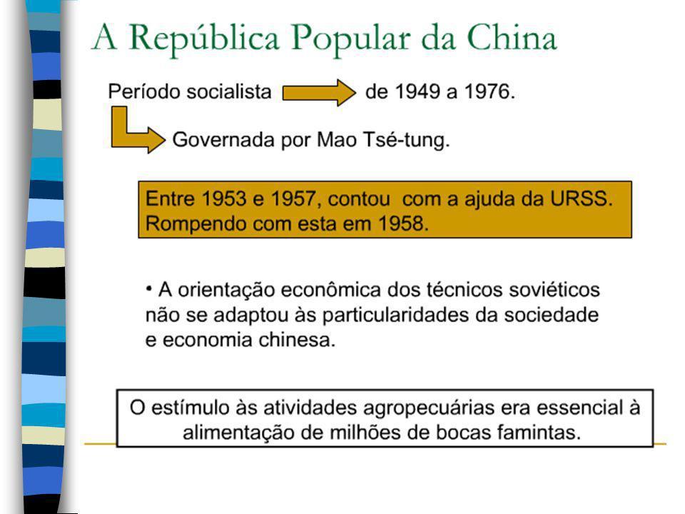 1911 -1912: fim do império mais antigo do mundo, se estabelece a República da China O partido nacionalista conquista o poder com a proposta de elimina