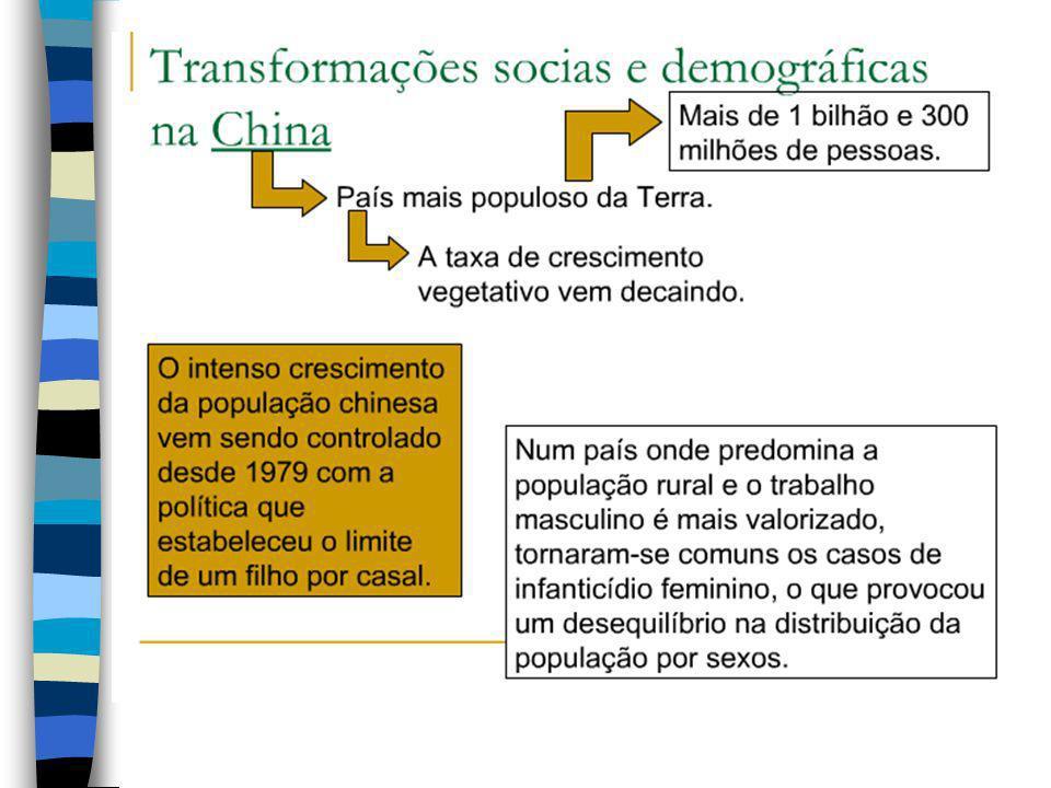 Projeção demográfica 2010: 1 347 000 000 2020: 1 430 000 000 2030: 1 461 000 000 2040: 1 463 144 780 2050: 1 465 224 000
