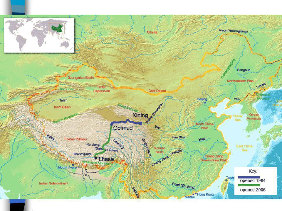 A Ferrovia Qinghai-Tibet é uma ferrovia de alta velocidade que liga Xining, província de Qinghai, a Lhasa, Região Autônoma do Tibet, na República Popu