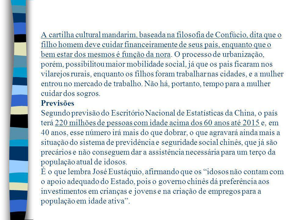População chinesa envelhece Postado por Renan Moraes on mai 6th, 2013 em Mundo.Renan MoraesMundo n Número de idosos aumenta e taxa de natalidade cai,