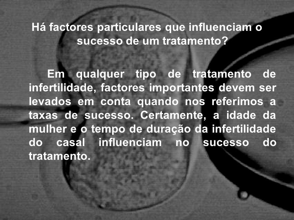 Há factores particulares que influenciam o sucesso de um tratamento? Em qualquer tipo de tratamento de infertilidade, factores importantes devem ser l