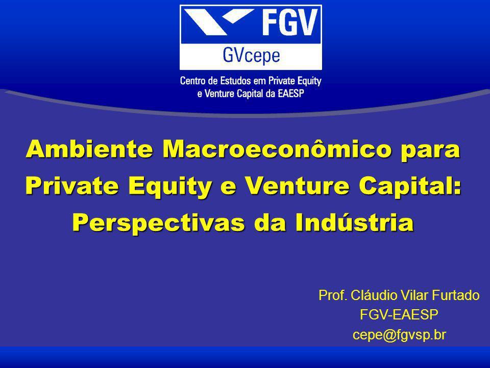 Ambiente Macroeconômico para Private Equity e Venture Capital: Perspectivas da Indústria Prof.