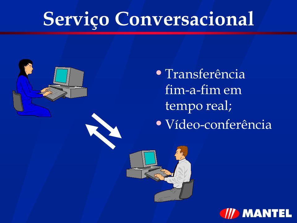 Serviço Conversacional Transferência fim-a-fim em tempo real; Vídeo-conferência