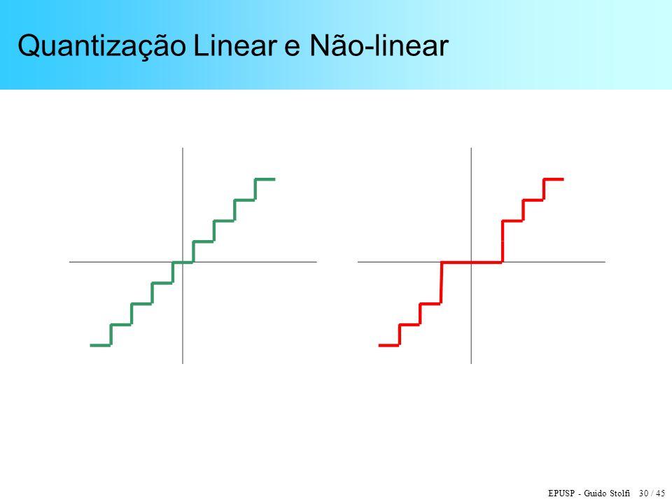 EPUSP - Guido Stolfi 30 / 45 Quantização Linear e Não-linear