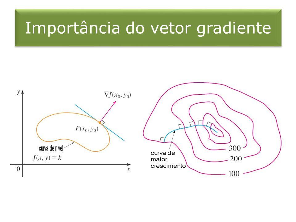 Importância do vetor gradiente