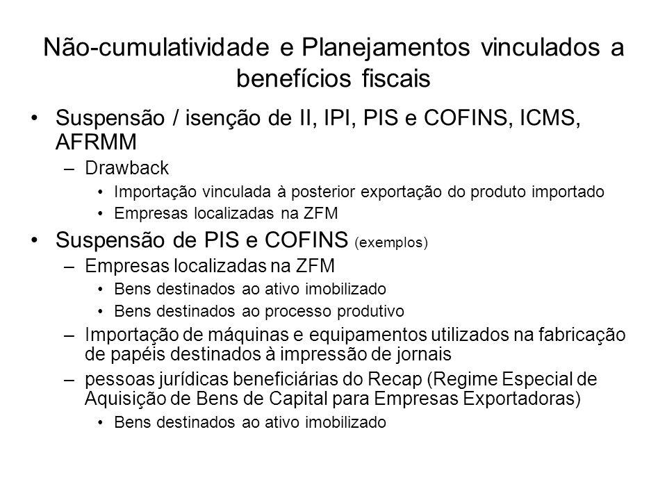 Suspensão / isenção de II, IPI, PIS e COFINS, ICMS, AFRMM –Drawback Importação vinculada à posterior exportação do produto importado Empresas localiza