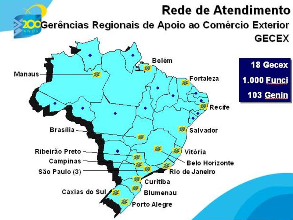 6 rede de atendimento especializada em câmbio e comércio exterior Banco do Brasil Funções Apoio aos negócios Financiamento Consultoria Treinamento Emissão de documentos legais: LI, Form A, AC Drawback (Convênio MDIC) Suporte operacional - câmbio e comex Registros e compliance