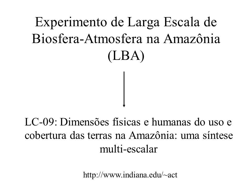 Desafios do Componente LULC do LBA Que características definem os diferentes usos das terras existentes na Amazônia.