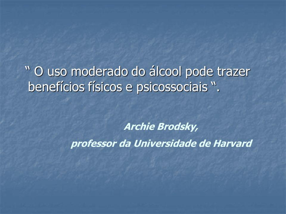 O uso moderado do álcool pode trazer benefícios físicos e psicossociais. O uso moderado do álcool pode trazer benefícios físicos e psicossociais. Arch