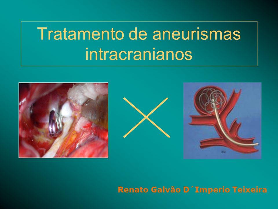Tratamento de aneurismas intracranianos Renato Galvão D´Imperio Teixeira