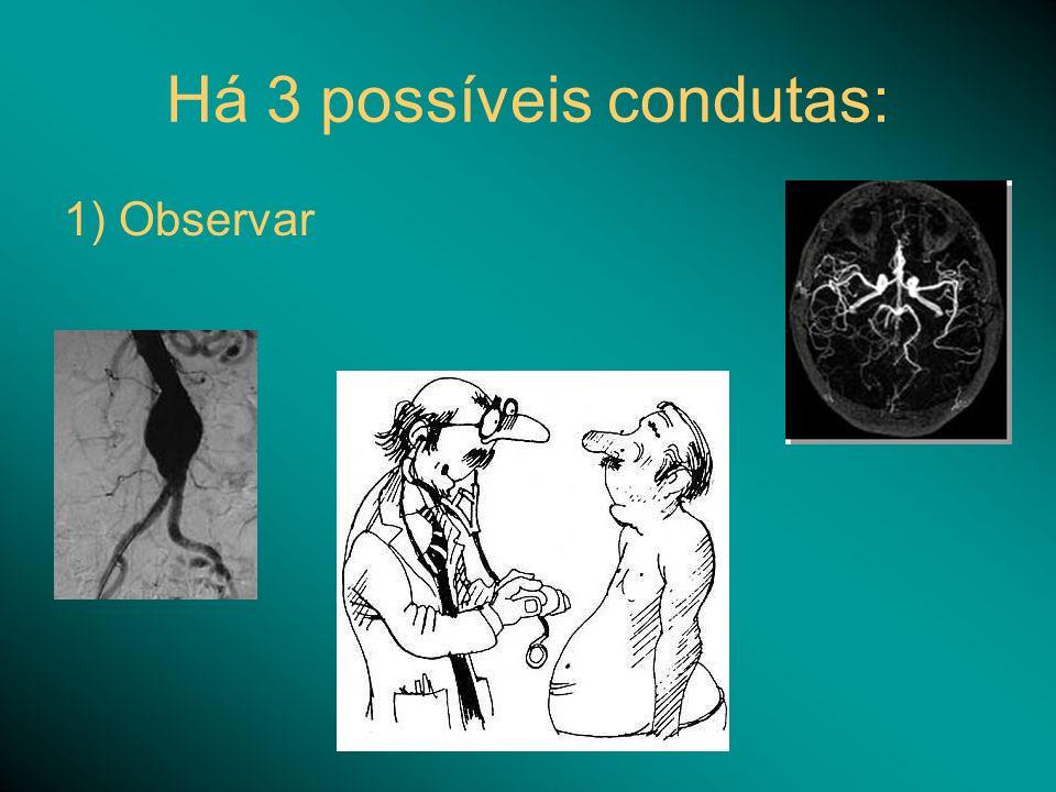 Há 3 possíveis condutas: 1) Observar