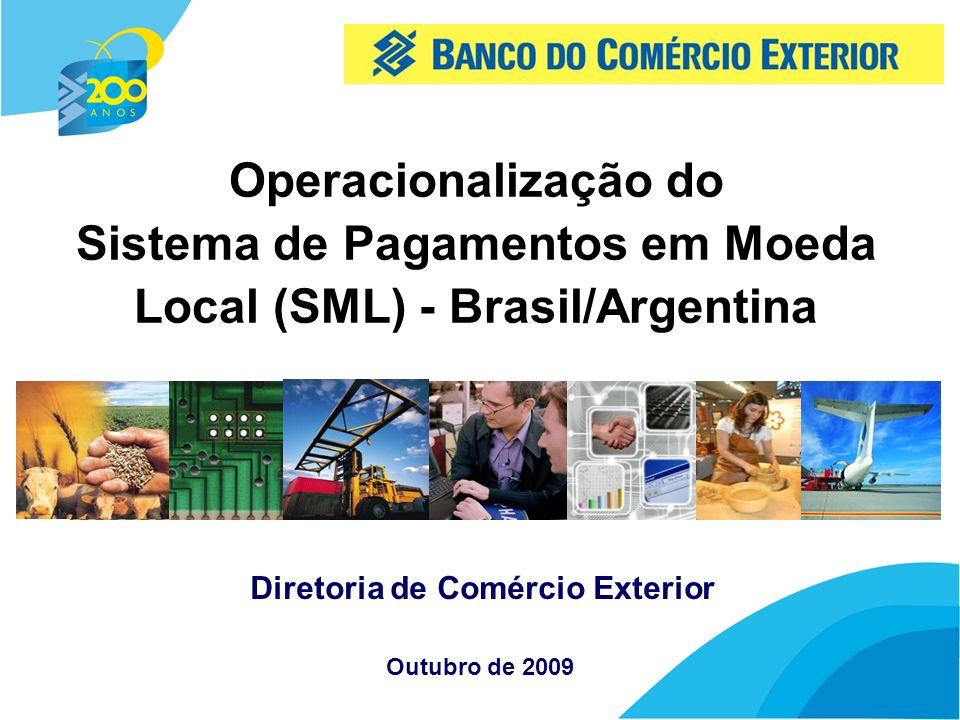 2 SML - Introdução Dispõe sobre o SML no âmbito Brasil/Argentina Permite aos importadores e exportadores nos dois países receber e pagar pelas transações comerciais em suas respectivas moedas Resolução nº 3608 de 11/09/2008 e Circular Bacen nº 3.406, de 26/09/2008