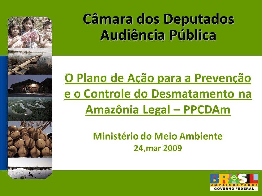Câmara dos Deputados Audiência Pública O Plano de Ação para a Prevenção e o Controle do Desmatamento na Amazônia Legal – PPCDAm Ministério do Meio Ambiente 24,mar 2009
