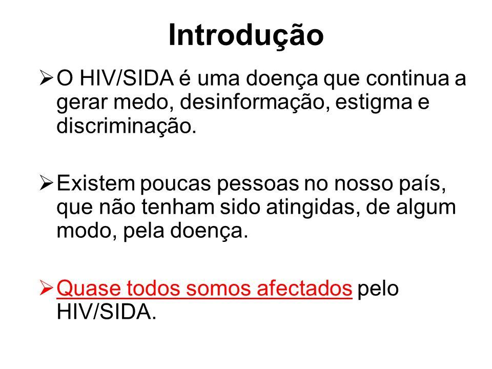 Introdução O HIV/SIDA é uma doença que continua a gerar medo, desinformação, estigma e discriminação. Existem poucas pessoas no nosso país, que não te