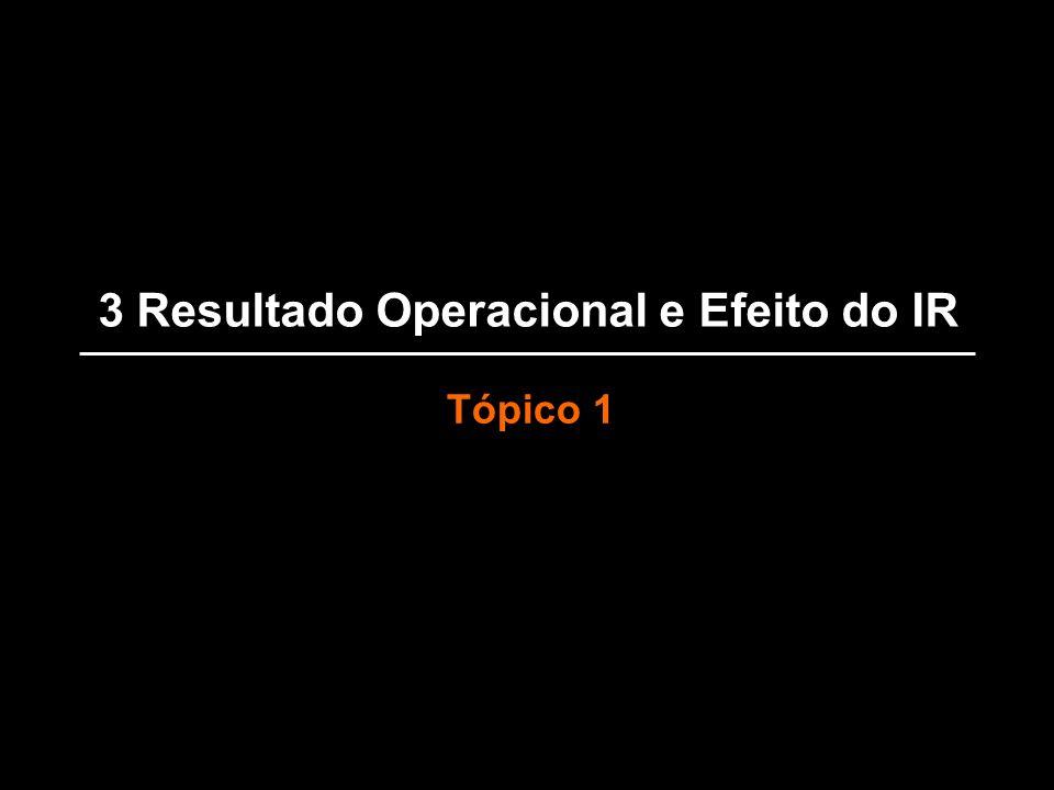 3 Resultado Operacional e Efeito do IR Tópico 1