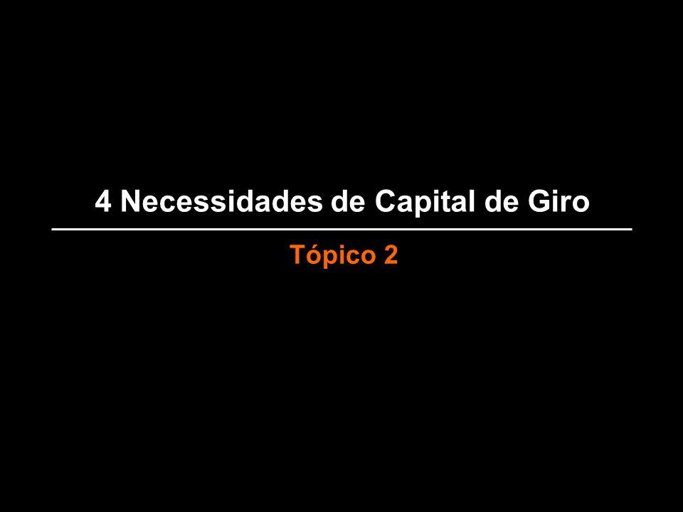 4 Necessidades de Capital de Giro Tópico 2