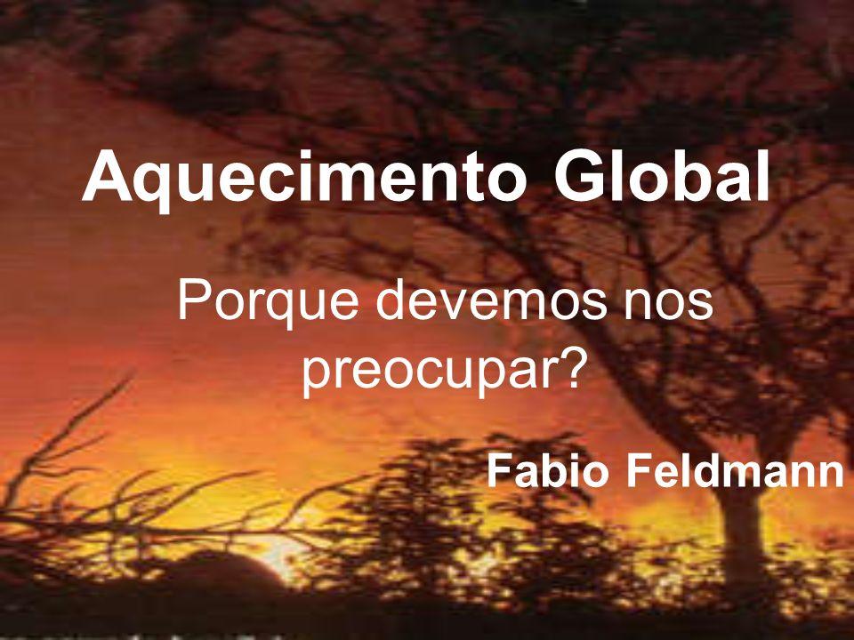 Aquecimento Global Porque devemos nos preocupar? Fabio Feldmann