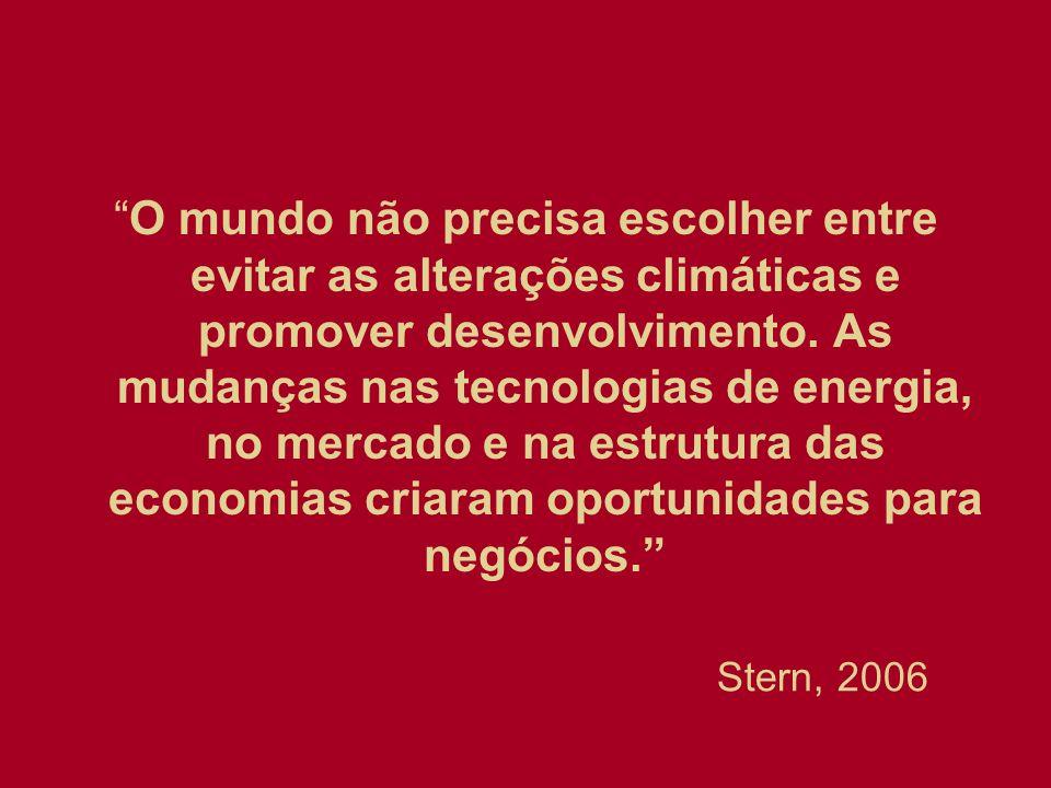 O mundo não precisa escolher entre evitar as alterações climáticas e promover desenvolvimento. As mudanças nas tecnologias de energia, no mercado e na